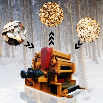 Shaving Wood Chipper Machine