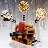 Peanut and Wood Chipper Crusher Machine